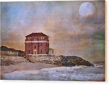 Ocean Front Wood Print by Barbara Manis