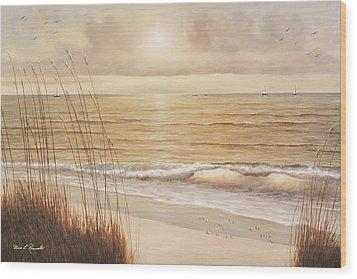 Ocean Glow Wood Print by Diane Romanello