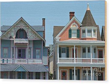 Ocean Grove Gingerbread Homes Wood Print by Anna Lisa Yoder