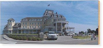 Ocean House Pano - Rhode Island Wood Print by Anna Lisa Yoder