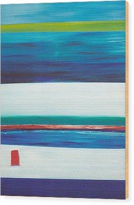 Ocean Journey Wood Print by Phoenix De Vries