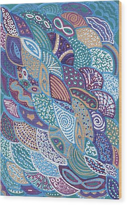 Ocean Life Wood Print by Sri Devi