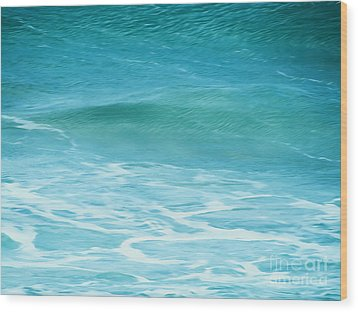 Ocean Lullaby Wood Print by Roselynne Broussard
