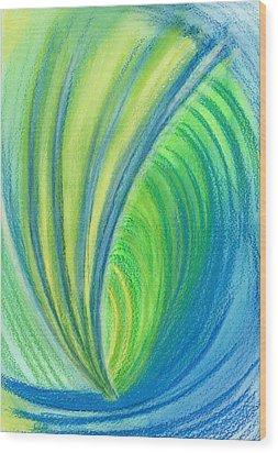 Ocean Of Dark And Light Wood Print by Kelly K H B