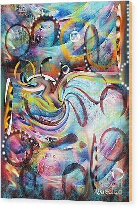 Ocean Run Wood Print by Yul Olaivar