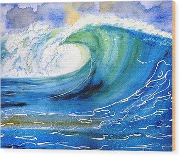 Ocean Spray Wood Print by Carlin Blahnik
