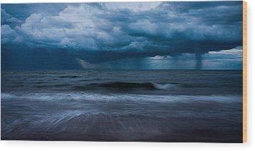 Ocean Storm Panorama Wood Print by Matt Dobson