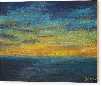 Ocean Sunset Wood Print by Dana Strotheide