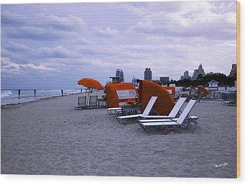 Ocean View 6 - Miami Beach - Florida Wood Print by Madeline Ellis