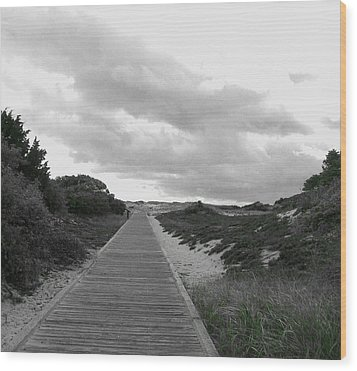 Wood Print featuring the photograph Ocean Walk Island Beach State Park New Jersey by Pamela Hyde Wilson