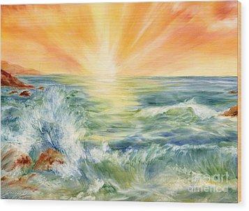 Ocean Waves IIi Wood Print by Summer Celeste