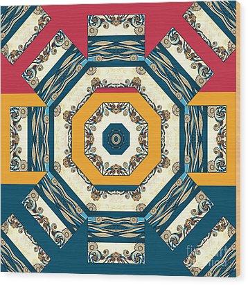 Ocean Waves Mandakal 01cm22 Wood Print by Aimelle
