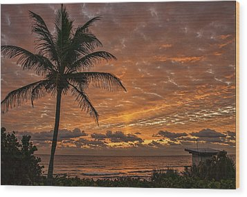 Oceanfront Park Sunrise 2 Wood Print by Don Durfee