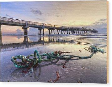 Ocean's Gift Wood Print by Debra and Dave Vanderlaan