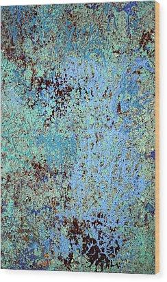 Oceans Hues Wood Print by James Mancini Heath