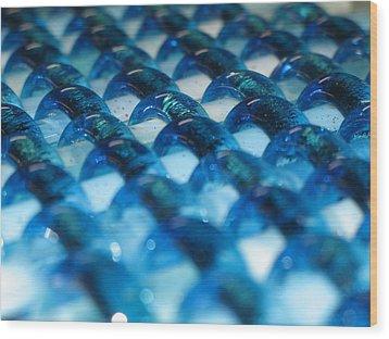 Oceans Woven Glass Wood Print by Steven Schramek