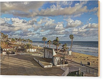 Oceanside Amphitheater Wood Print by Ann Patterson
