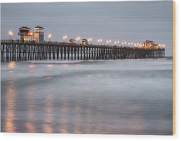 Wood Print featuring the photograph Oceanside Pier 1 by Lee Kirchhevel