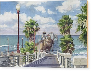 Oceanside Pier Wood Print