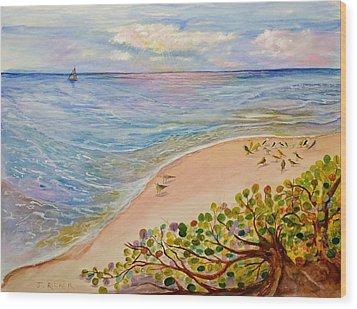 Seaside Grapes Wood Print