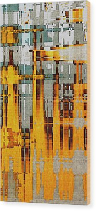 Ochre Urbanity Wood Print by David Hansen