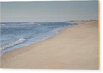 Ocracoke Beach Wood Print by Steven Ainsworth