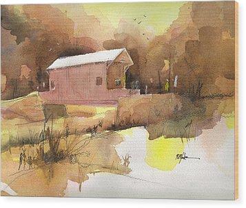 October 16th  Wood Print by Robert Yonke