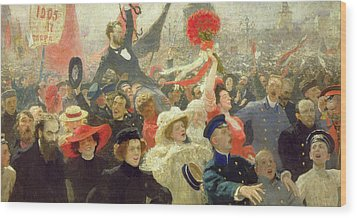 October 17th 1905 Wood Print by Ilya Efimovich Repin