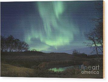 October Aurora Wood Print by Dan Jurak