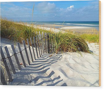 Wood Print featuring the photograph October Beach by Dianne Cowen