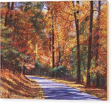 October Colors Wood Print by David Lloyd Glover