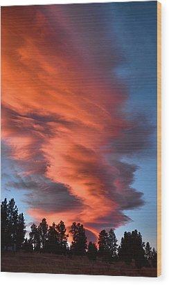 October Dawn Wood Print