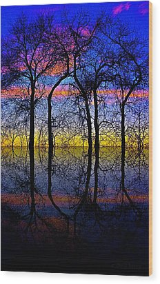 October Dusk  Wood Print by Chris Berry