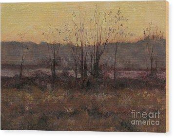 October Dusk Wood Print by Gregory Arnett