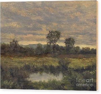 October Evening Storm Wood Print by Gregory Arnett