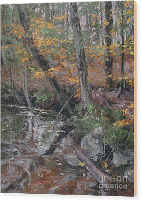 October Leaves Wood Print by Gregory Arnett