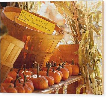 October Market Wood Print by Jim Garrison