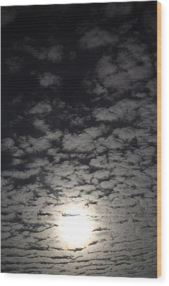 October Moon Wood Print