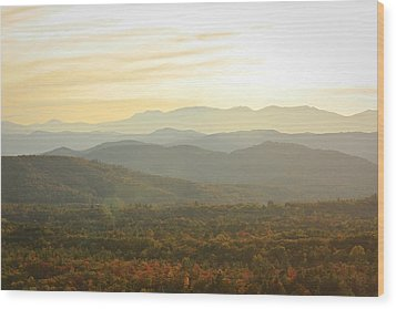October Mountains Wood Print