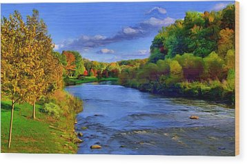October On The Cuyahoga Wood Print