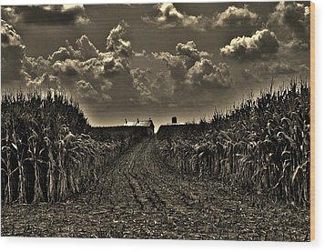 October Sky Wood Print by Robert Geary