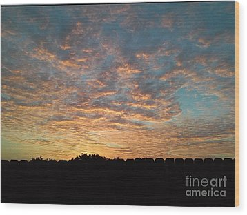 October Sunrise Wood Print