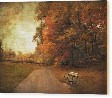 October Tones Wood Print by Jessica Jenney