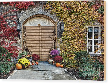 October Welcome Wood Print