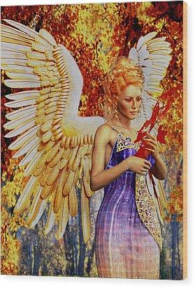 October's Angel Wood Print