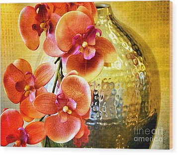 October's Orchids Wood Print by Darla Wood