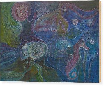 Octopus Garden Wood Print