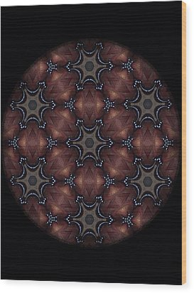 Octopus Mandala Wood Print by Karen Buford