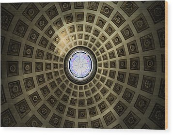 Oculus At The Baths Of Diocleian Wood Print by Joan Carroll