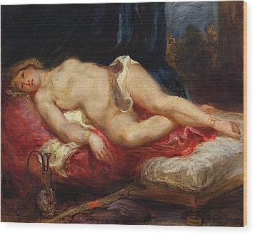 Odalisque Wood Print by Ferdinand Victor Eugene Delacroix